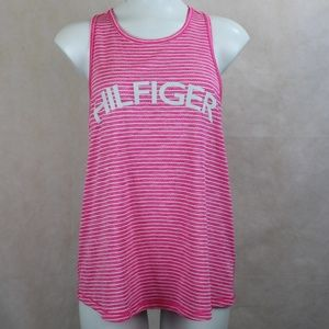 Tommy Hilfiger Sport Striped Spell Out Tank Top